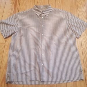Other - Via Europa mens casual short sleeve button-down
